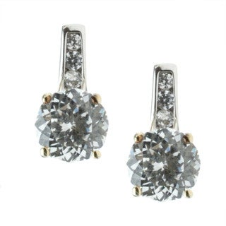 Michael Valitutti 14k Two-tone Gold Cubic Zirconia Earrings