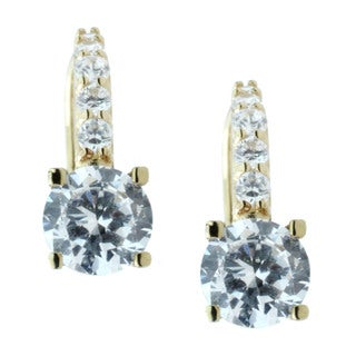 Michael Valitutti 10k Yellow Gold Cubic Zirconia Leverback Earrings
