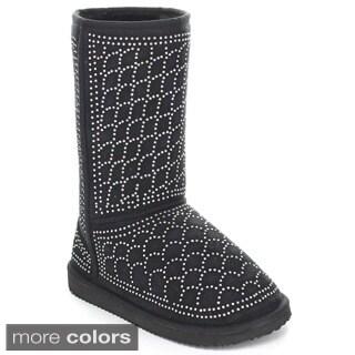Rck Bella Women's 'Guru-33' Rhinestone Mid-calf Snow Boots