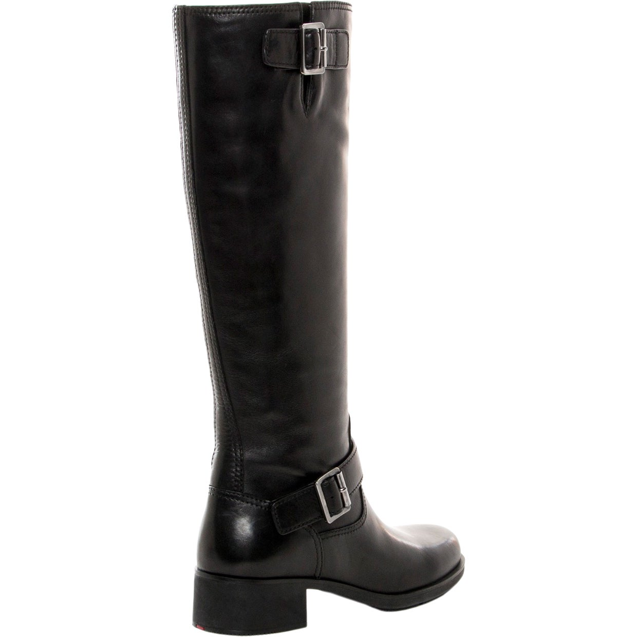 0f9d1afe8b3 Shop Prada Buckle Detail Knee-High Leather Boots - Free Shipping Today -  Overstock - 9652632