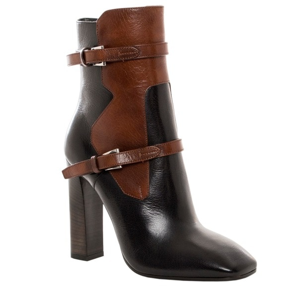 Prada Women's Two-tone Leather Ankle Boots - Free Shipping Today ...