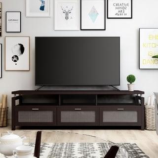 Furniture of America Posa Modern 71-inch Espresso Wood TV Console