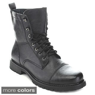 Polar Fox Men's Lace-Up Combat Boots - Free Shipping Today ...