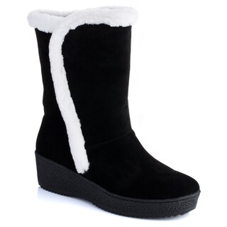 Women's 'Salina' Fur Trim Wedge Boots (More options available)