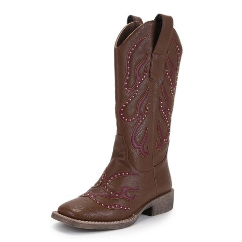 Women's Stud Patch Boots