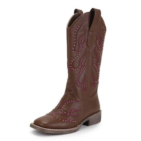 Ann Creek Women's Stud Patch Boots