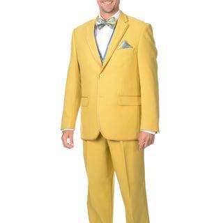 Falcone Men's 5-piece Gold Vested Suit