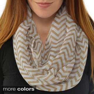 Leisureland Women's Chevron Infinity Scarf