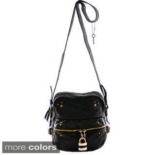 24/7 Comfort Apparel Faux Leather Crossbody Bag|https://ak1.ostkcdn.com/images/products/9653025/P16835870.jpg?impolicy=medium
