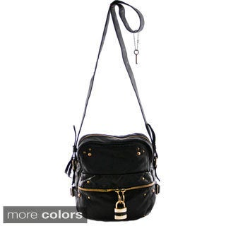 24/7 Comfort Apparel Faux Leather Crossbody Bag