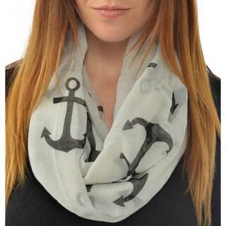 Leisureland Women's Anchor Infinity Scarf