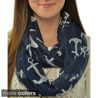 Leisureland Women's Anchor Infinity Scarf