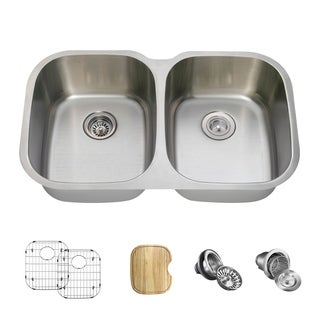 MR Direct 504 Kitchen Ensemble Stainless Steel Equal Double Bowl Sink