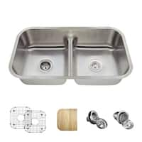 512 Low-Divide Stainless Steel Sink, Cutting Board, Grids, and Standard and Basket Strainers