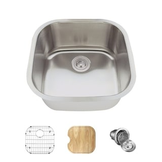 MR Direct 2020 Stainless Steel Sink, Cutting Board, Grid, and Basket Strainer