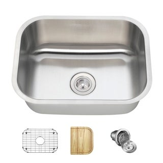 MR Direct 2318 Kitchen Ensemble Stainless Steel Single Bowl Sink