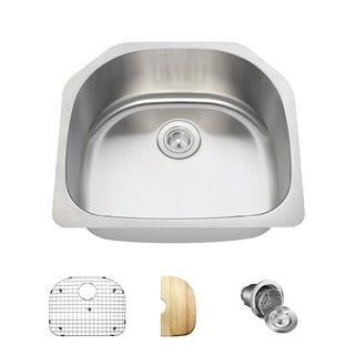 MR Direct 2421 Kitchen Ensemble Stainless Steel Single Bowl Sink