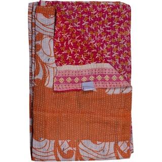 Taj Hotel Vintage Handmade Kantha Multicolor Throw