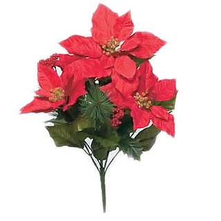 Sage & Co 19-inch Designer Poinsettia Bush, Assortment of 3 (Pack of 12)