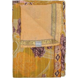Taj Hotel Vintage Handmade Kantha Throw Blanket