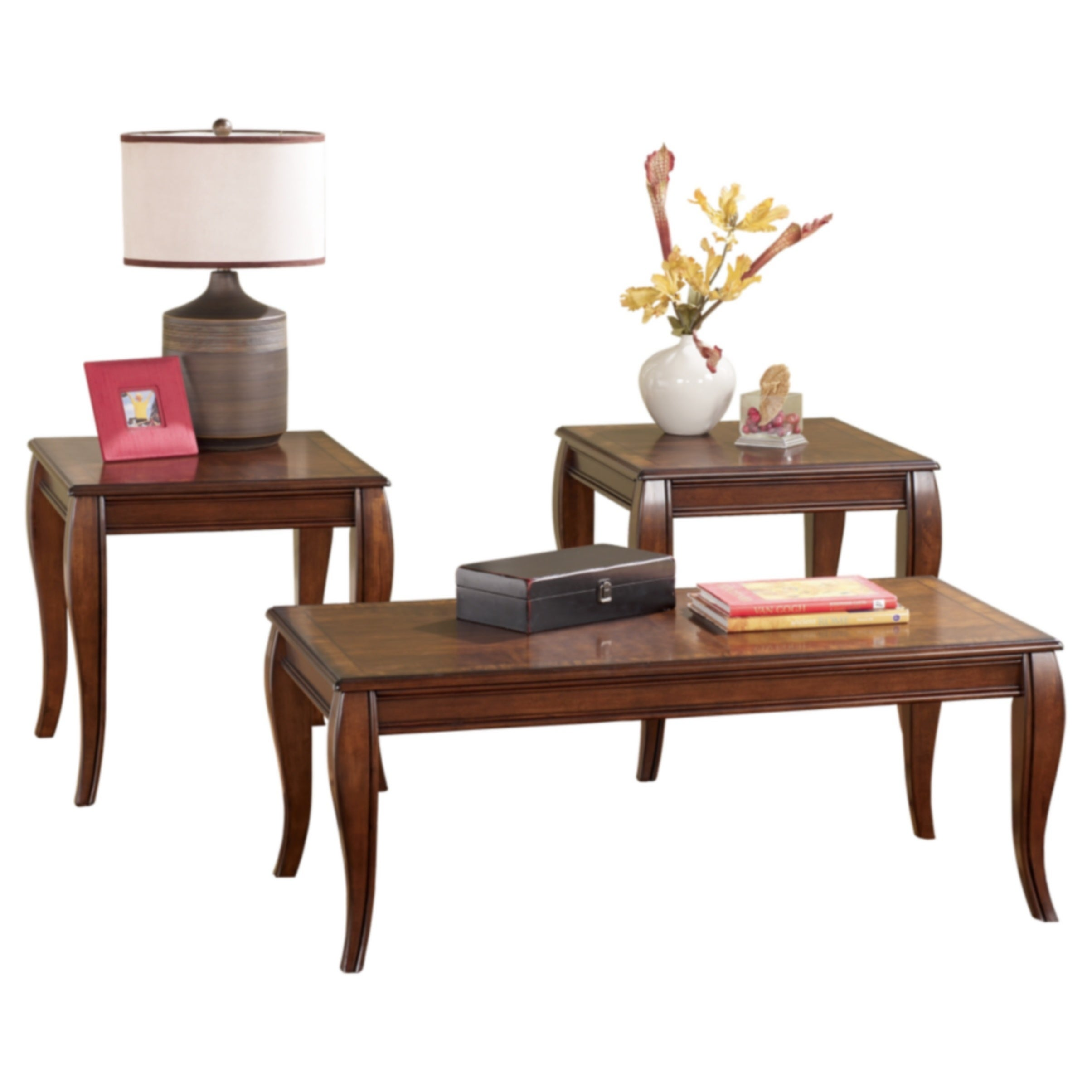 Signature Designs By Ashley, Mattie Cherry 3 Piece Occasional Table Set
