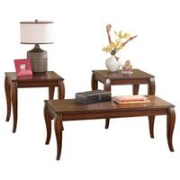Signature Designs by Ashley, Mattie Cherry 3-piece Occasional Table Set