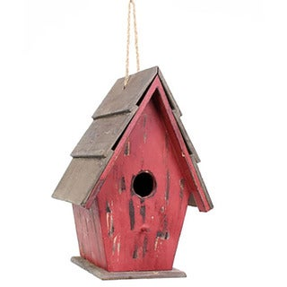 Sage & Co 8-inch x 6-inch x 11.5-inch Tall Red Birdhouse Christmas Ornament (Pack of 4)