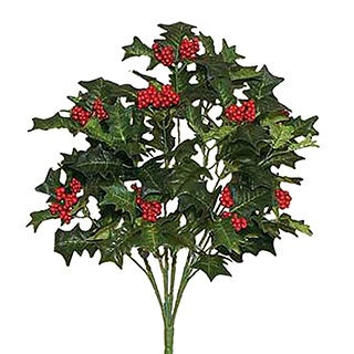 Sage & Co 20-inch Natural Holly Bush (Pack of 12)