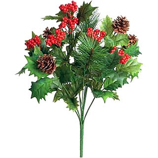 Sage & Co 19-inch Holly Pine Bush (Pack of 12)