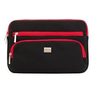 Griffin Carrying Case for Notebook - Black, Red