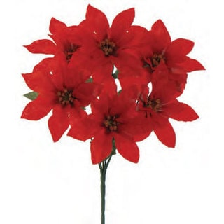 Sage & Co 13-inch Poinsettia Christmas Bush (Pack of 24)
