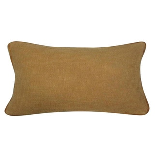 Kosas Home Fancy Mustard Feather and Down Filled Decorative Pillow