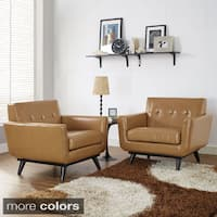 Palm Canyon Chorro Mid-century Leather Chair Set