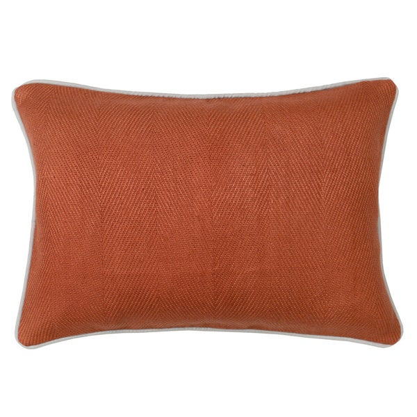 Shop Kosas Home Geneva Rust Feather And Down Filled Decorative Enchanting Rust Decorative Pillows