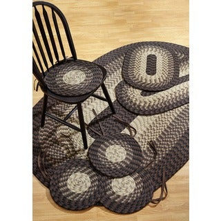 Alpine Chocolate 7-piece Braided Rug Set by Better Trends