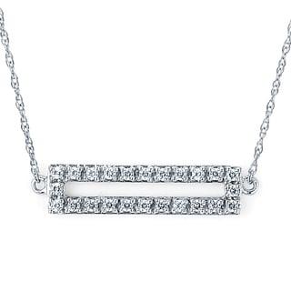 Boston Bay Diamonds 14k White Gold 1/8ct TDW Diamond Geometric Pendant (I-J, I1-I2)