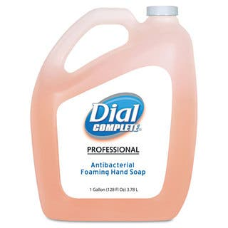 Dial Professional Antimicrobial Foaming Hand Soap, Original Scent, 1gal|https://ak1.ostkcdn.com/images/products/9653531/P16836275.jpg?impolicy=medium