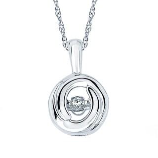 Boston Bay Diamonds 925 Sterling Silver .05ct TDW Diamond Pendant w/ Chain - White