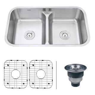 Ruvati RVM4350 Undermount 16-gauge 32-inch Low-divide Kitchen Sink