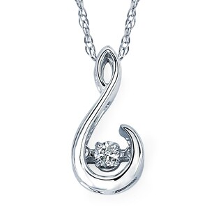 Boston Bay Diamonds Sterling Silver 1/20ct TDW White Diamond Necklace (I-J, I1-I2)