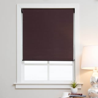 Arlo Blinds Mocha Brown Blackout Fabric Roman Shades