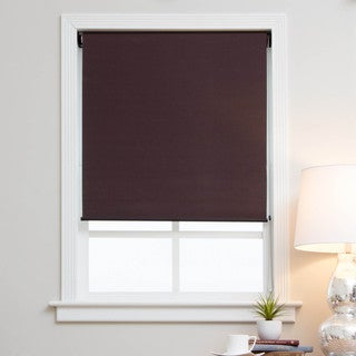 Mocha Brown Blackout Fabric Roman Shades