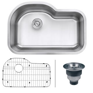 "Ruvati RVM4700 Undermount 16 Gauge 32"" Kitchen Sink Single Bowl"