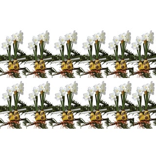 Sage & Co 7-inch Paper White Bulb Tie On Christmas Ornament (Pack of 12)