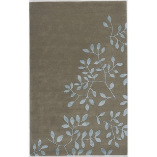 Hand-crafted Splendor Grey Rug (5' x 8')
