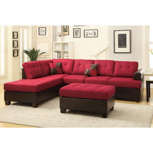 shop hamar sectional with matching ottoman pillows free shipping today overstock 9653724. Black Bedroom Furniture Sets. Home Design Ideas