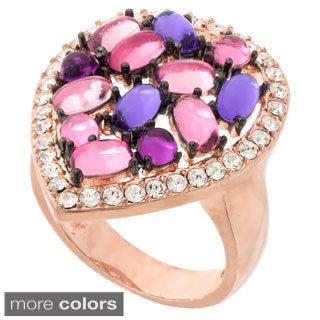 Cabochon Multi-color Crystal Stone Ring