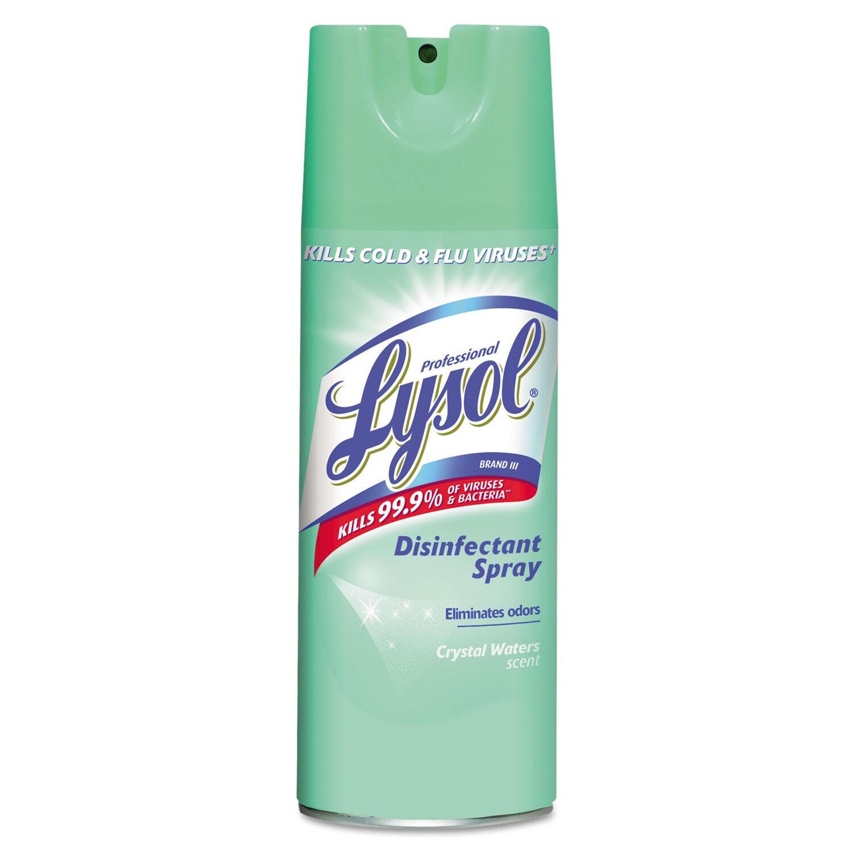 LYSOL Disinfectant Spray, Crystal Waters, 12.5oz Aerosol ...