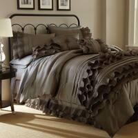 Anastacia Platinum 7-piece Queen Size Embellished Comforter Set in Platinum (As Is Item)
