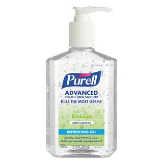 PURELL Green Certified Instant Hand Sanitizer Gel, 8oz Pump Bottle, Clear